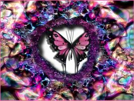 Butterfly In Psychedelia by Rayszer