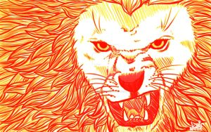 Day 138: Raging Lion by Artistic-Winds