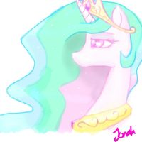 Princess Celestia - Done with mouse by Jonah-yeoj