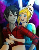 Adventure time - Fionna And Marshall Lee by MelSpontaneus
