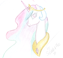 Princess Celestia (finished) by SaTeLLiTe-singular