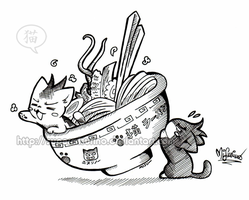 cat-team: ramen by SuperMisurino