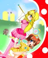 Super Mahou Shoujo Peach and Daisy by Sironien-Winter