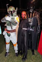 Fett, Maul and Vader by FlorBcosplay