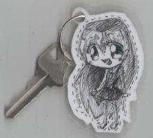 First made keychain o3o by 360DegreesCelsius