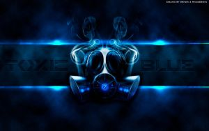 Wallpaper Toxic Blue HD 1920x1200 by DShepe