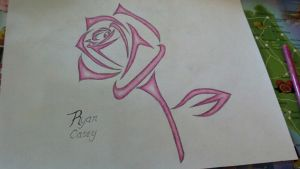 Pink Tribal Rose by Toast007