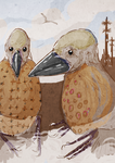"Two ""Monkbird"" Gentlemen by nemo-ramjet"