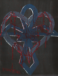 Bloody Heart Ankh by weezel365