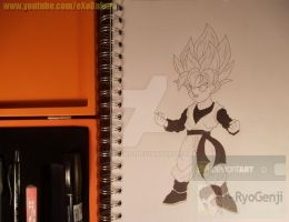 Trying out the new materials, SSJ Goten by RyoGenji