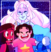 we are the crystal gems (+speedpaint) by norrisvilleninja