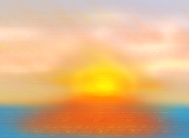 simple sunset cause i was bored. by lordkalem