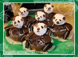 Panda-monium Cupcakes by plushies-by-chrissie