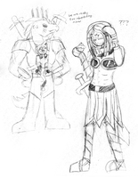 DnD: Silly doodles by KPenDragon