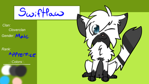 Swiftpaw Ref by KatWolfKid
