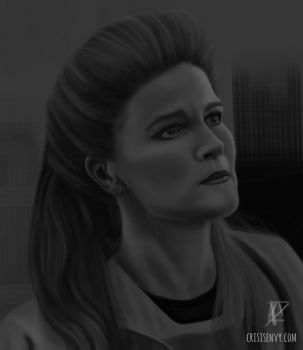 Captain Janeway 'Time and Again.' by CrisisEnvy
