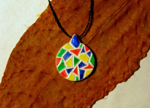 Stained-glass pendant by Forester-RT