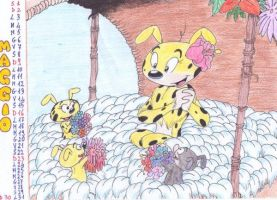 Marsupilamie and her babies by BabyMessina89