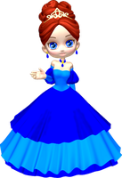 Princess in Blue Poser PNG Clipart (2) by clipartcotttage