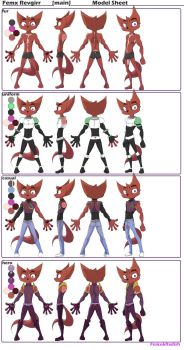 Femx Revgirr Main Model Sheet by FEMXandRADDISH