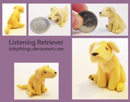 Listening Retriever - SOLD by Bittythings