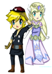 TloZ SP: Toon Link and Toon Zelda by acua-chan