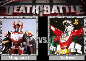 DEATH BATTLE! Idea: Megazord VS Voltron by Powershade117