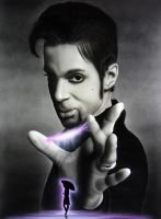 Airbrush and spraypaint on wood - Purple rain by Airgone