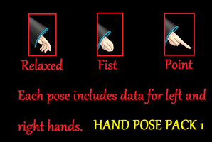 Hand Pose Pack Download by g-girl1