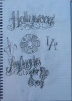 Hollywood Lettering by 12KathyLees12