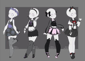 Gacha outfits 3 by kawaii-antagonist