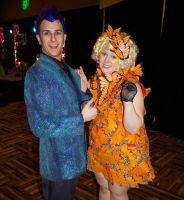 Caesar Flickerman and Effie Trinket Cosplay by GrumpyCosplay