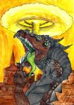 Nuclear fallout dragon by corpitin