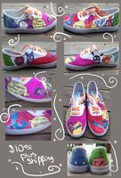 Comic Shoes by sugarbearkitty