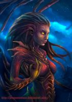 Kerrigan - Starcraft by DragonsTrace