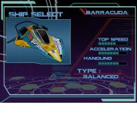 Ion Drive Barracuda ship select by Hamtoilet