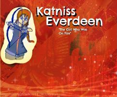 Katniss Everdeeen The Girl On Fire by maryphantom11