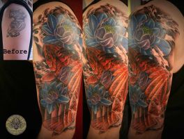 Cover up japanese tattoo by 2Face-Tattoo