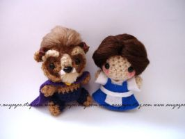 Belle and Beast Amigurumi by AnyaZoe