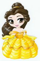 Princess Belle chibi by crazycat-artist