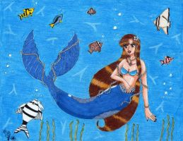 Blue Mermaid by Lily-de-Wakabayashi