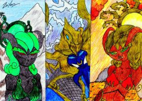 The Thunder King and His Two Consorts by lordtrigonstar