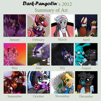 Art summary of 2012 by Dark-Pangolin