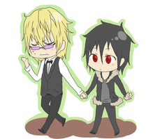 Walkie Walk with Shizaya by Erenii
