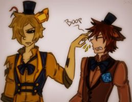[Golden and Freddy] by rebellion94