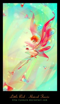 Little Red Haired Faerie by YooYie