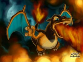 Charizard Fires it Up! by MarioMinecraftMix