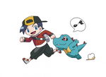 Ethan and Totodile by MysticallyME
