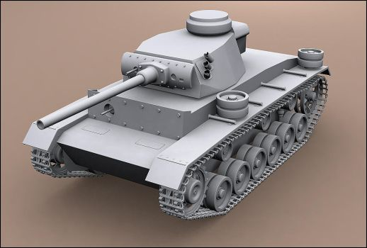 3D Panzer III - unfinished by pete-c-89