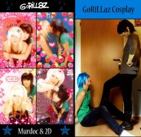 GoRiLLaz Cosplay vs. Real Life by Hikarulein